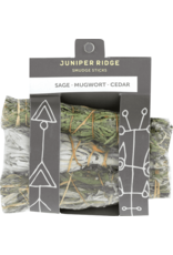 Juniper Ridge Juniper Ridge Smudge Stick- Sage Mugwort and Cedar