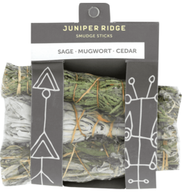Juniper Ridge Juniper Ridge Smudge Stick- Sage Mugwort and Cedar