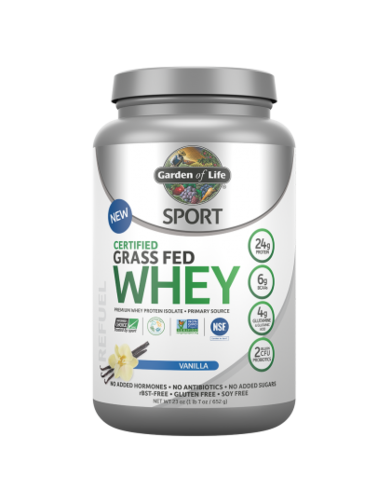 Garden Of Life Garden of Life Sport Whey Protein Grass Fed- Vanilla 640g