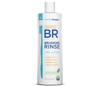 Essential Oxygen Brushing Rinse Organic Peppermint 16oz