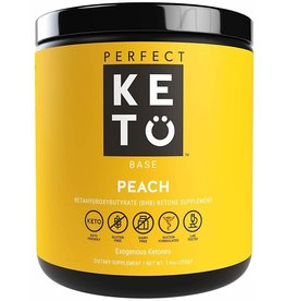Perfect Keto Keto Base Exogenous Ketones Peach 234g