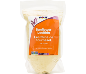 NOW Sunflower Lecithin 100% Pure 454g