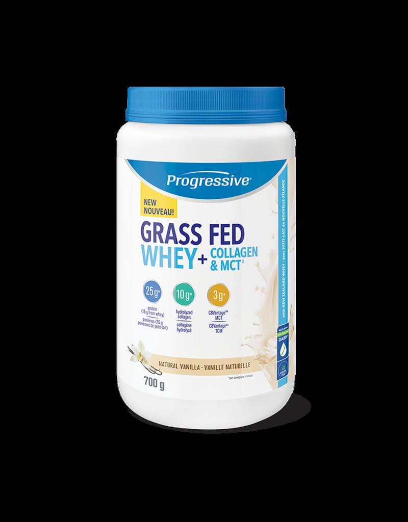 Progressive Progressive Grass Fed Whey Collagen and MCT 700g- Natural Vanilla