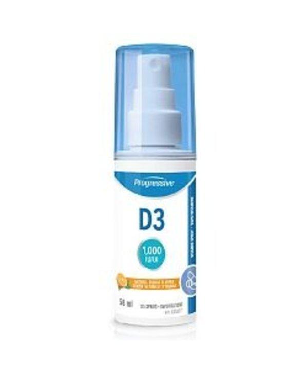 Progressive D3 1000IU Spray 58ml