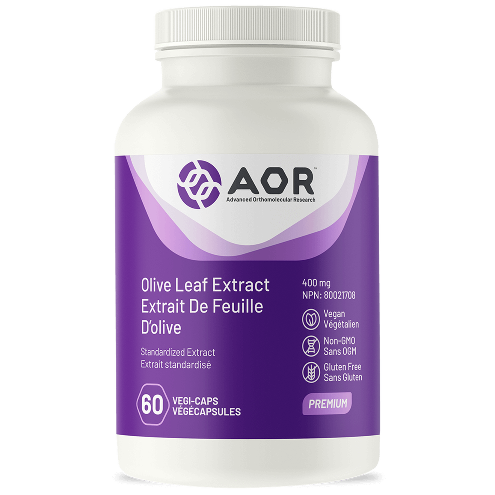 AOR AOR Olive Leaf Extract 400mg 60 caps