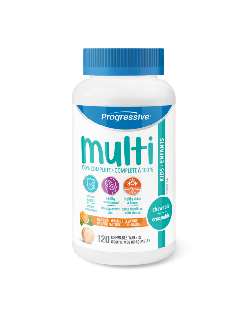 Progressive Multivitamin Kids - Natural Orange 60 chews