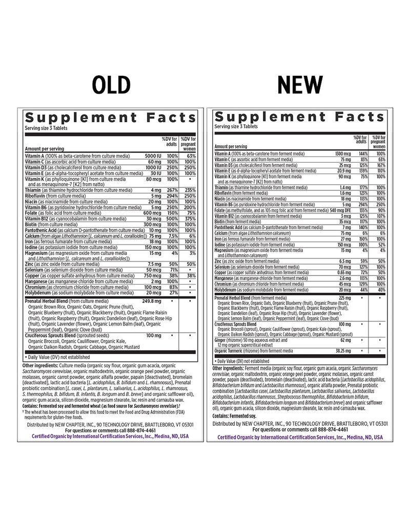 New Chapter Perfect Prenatal Multivitamin 96 tabs