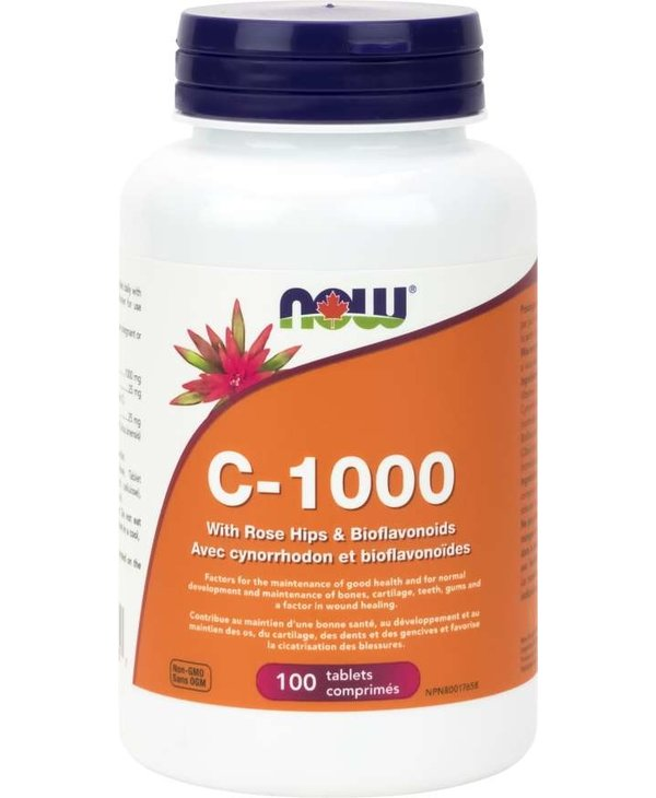 NOW Vitamin C-1000 With Rose Hips and Bioflavanoids 100 tabs