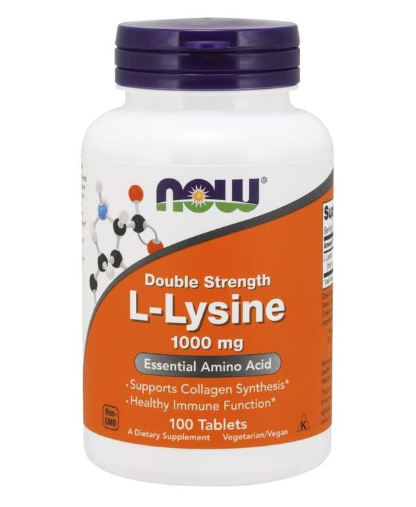 NOW Double Strength L-Lysine 1000mg 100 tablets