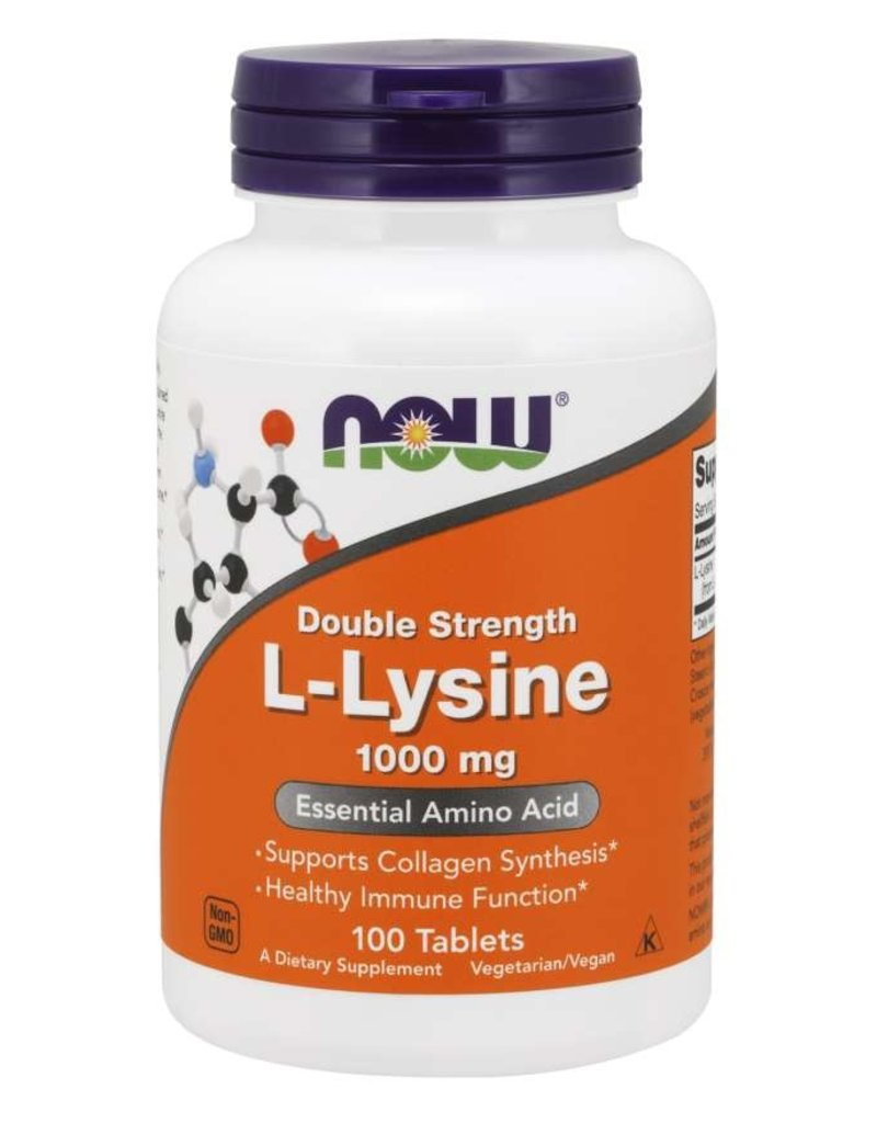 NOW NOW Double Strength L-Lysine 1000mg 100 tablets