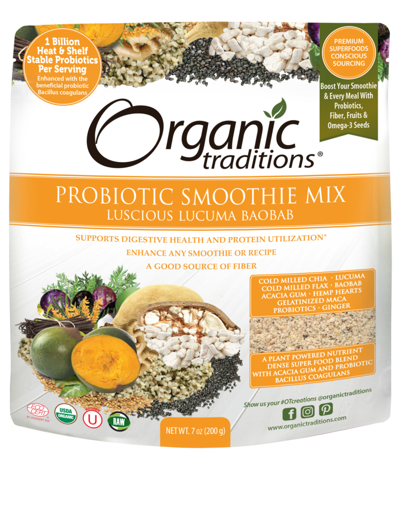 Organic Traditions Organic Traditions Probiotic Smoothie Mix- Baobab 200g