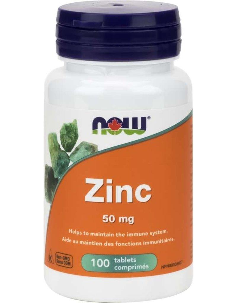 NOW Zinc Gluconate 50mg 100 tablets