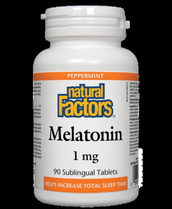 Natural Factors Melatonin 1mg 90 Sublingual Tablets