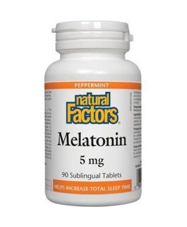 Natural Factors Melatonin 5mg 90 Sublingual Tablets