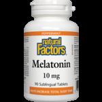 Natural Factors Natural Factors Melatonin 10mg 90 Sublingual Tablets