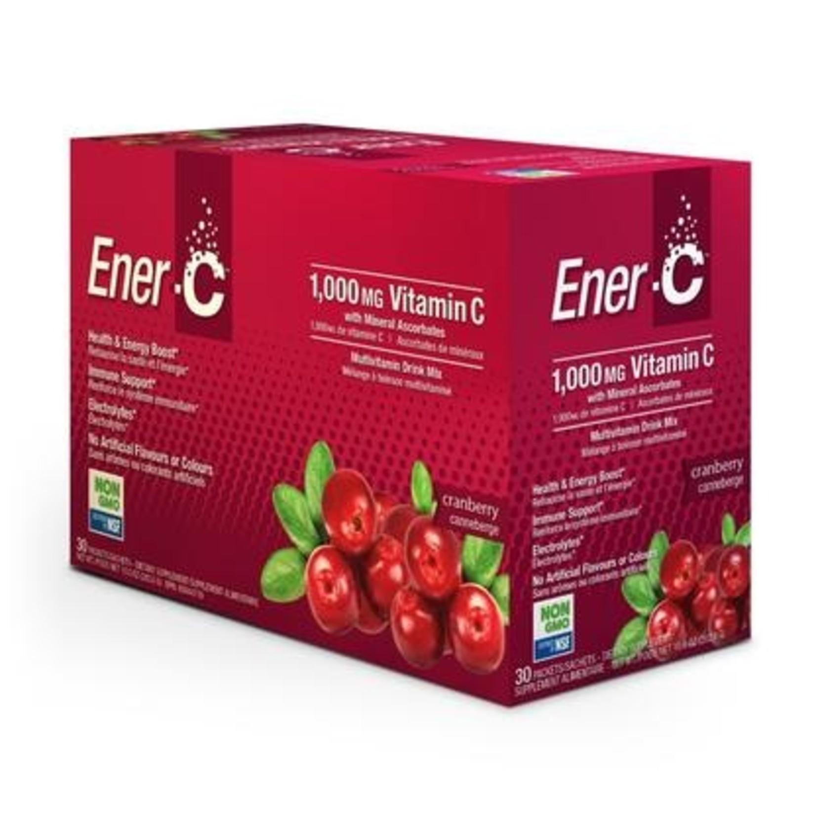 Ener-C Ener-C Vitamin C 1000mg- Cranberry 30 packets