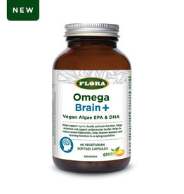 Flora Flora Omega Brain+ Vegan Algae EPA and DHA 60 caps