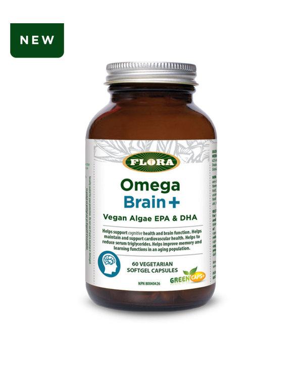 Flora Omega Brain+ Vegan Algae EPA and DHA 60 caps