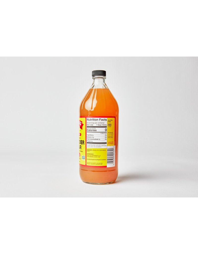 Braggs Apple Cider Vinegar 946 ml Glass