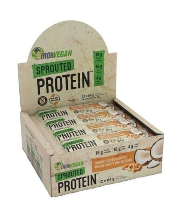 Iron Vegan Protein Bar Coconut Cashew Cluster Box of 12