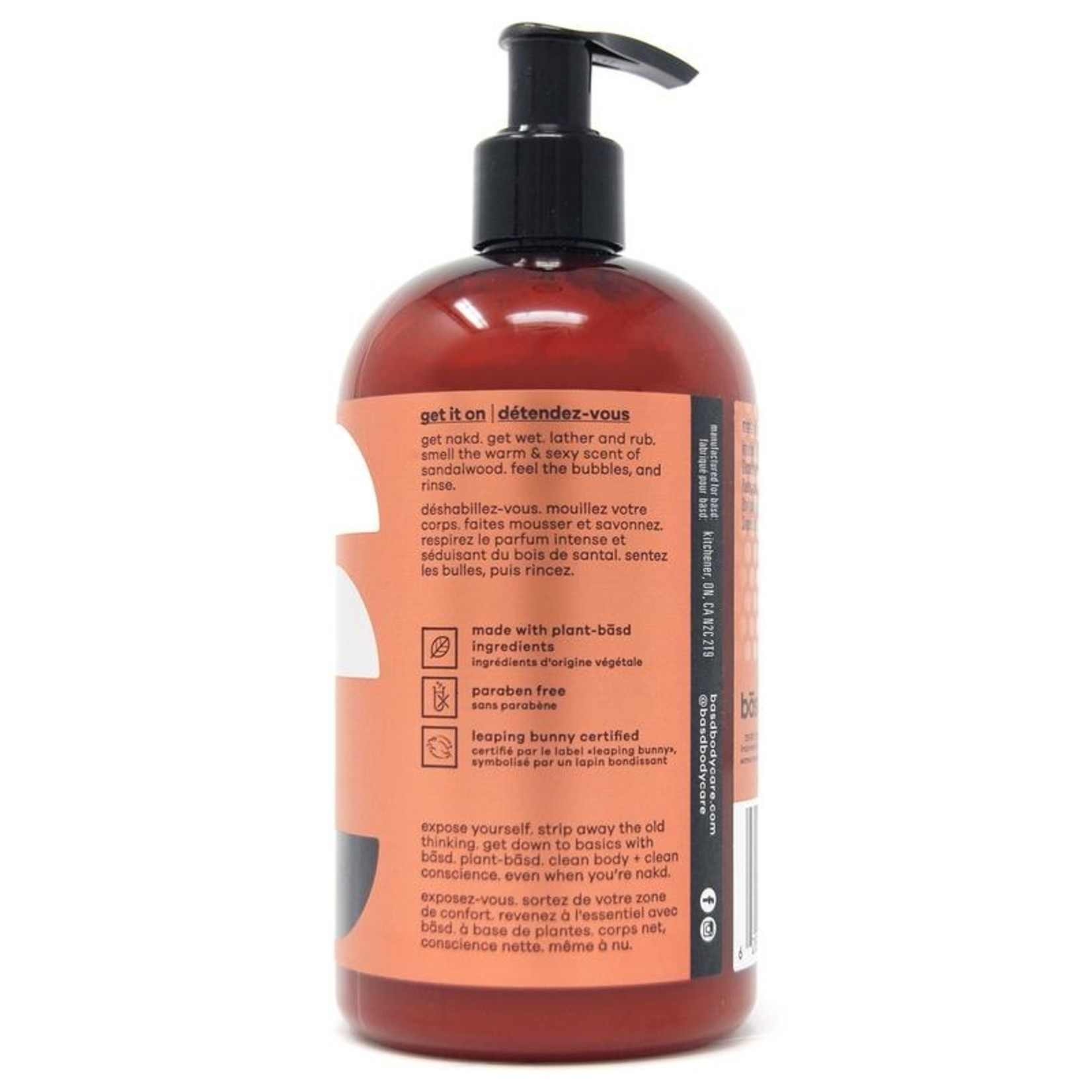 Basd BASD Seductive Sandalwood Body Wash 450ml