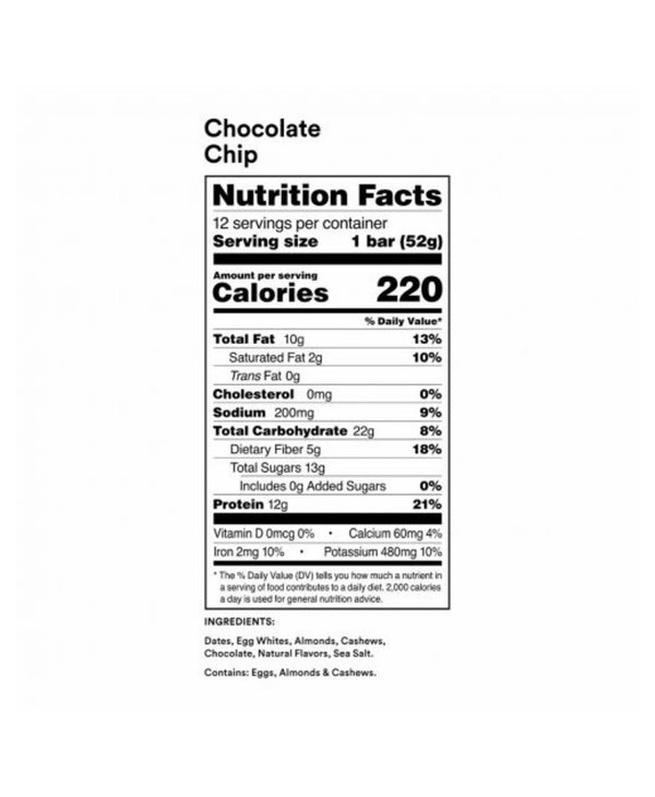 Rx Protein Bar Chocolate Chip single