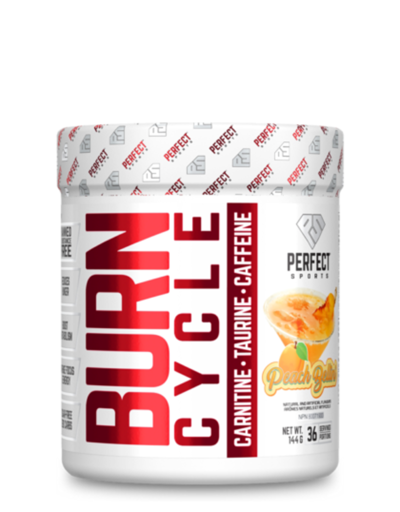 Perfect Sport Burn Cycle Pre Workout Peach Belini 144g