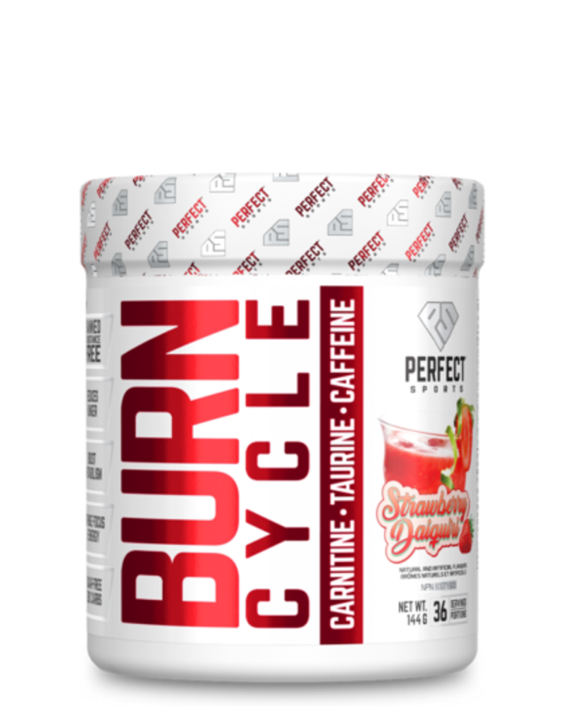 Perfect Sport Burn cycle strawberry daiquiri 144gBurn Cycle Pre Workout Strawberry Daiquiri 144g
