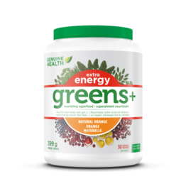 Genuine Health Genuine Health Greens+ extra energy orange 399g