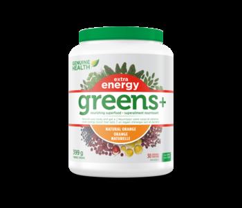 Genuine Health Greens+ extra energy orange 399g