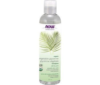 NOW Organic Vegetable Glycerin 100% Pure 237ml