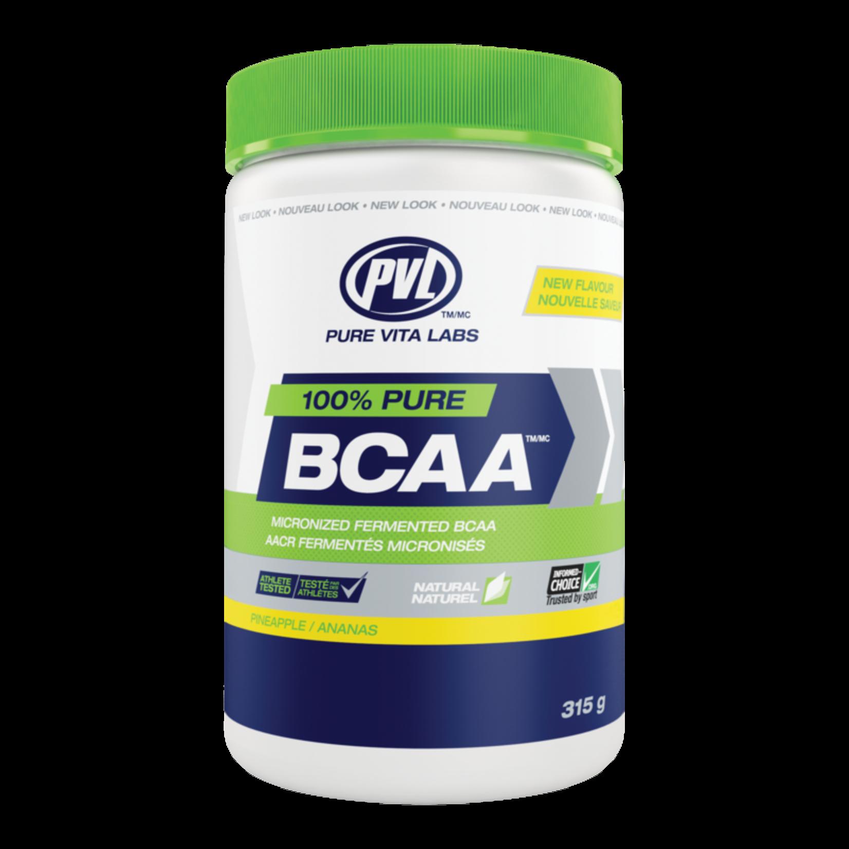 Pure Vita Labs 100% Pure BCAA - Pineapple 315g