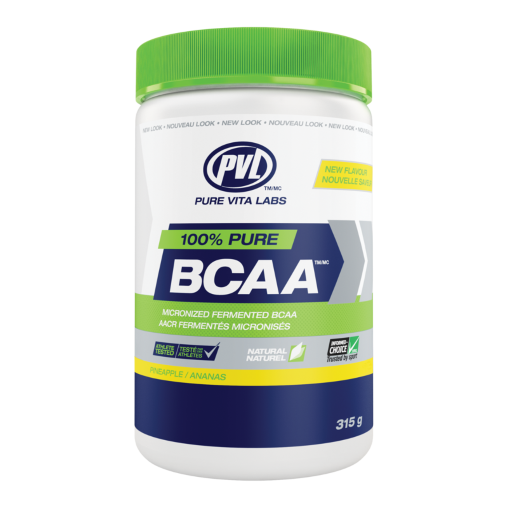 PVL 100% Pure BCAA - Pineapple 315g