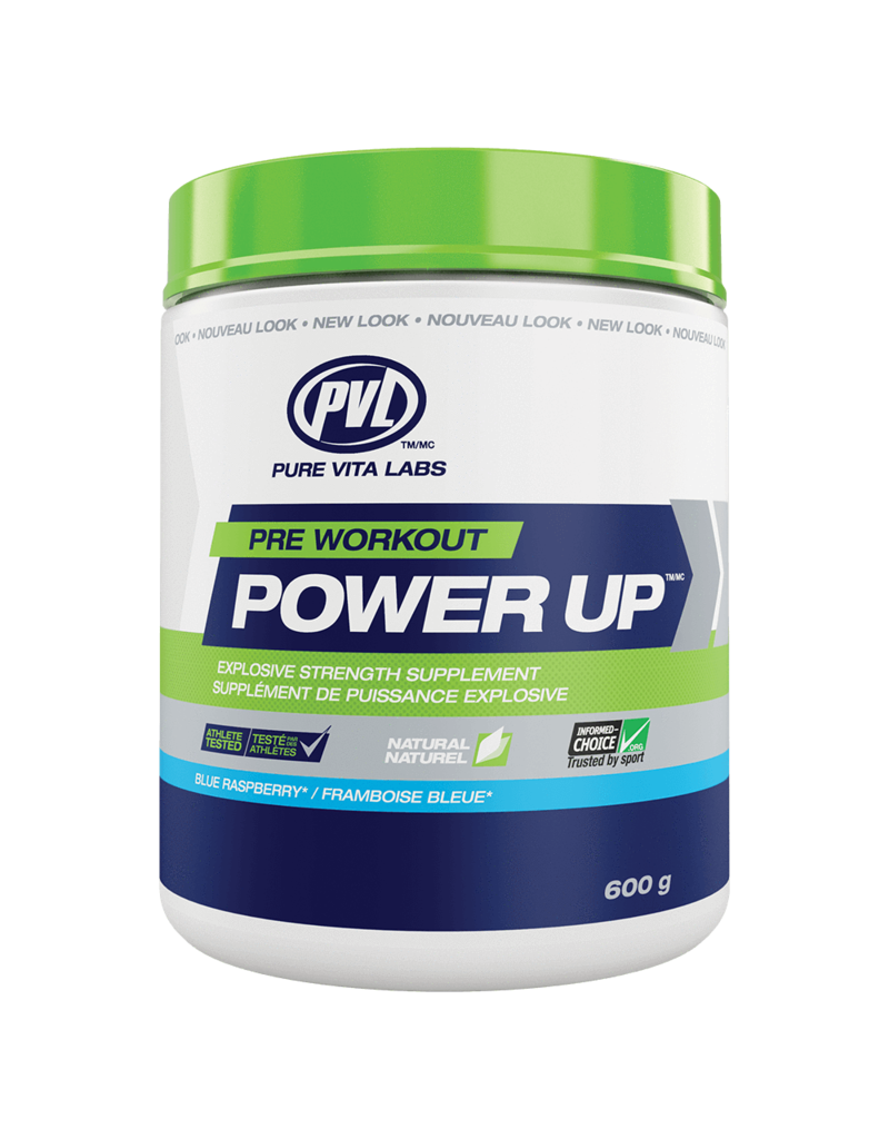 Pure Vita Labs Power Up Pre Workout - Blue Raspberry 600g