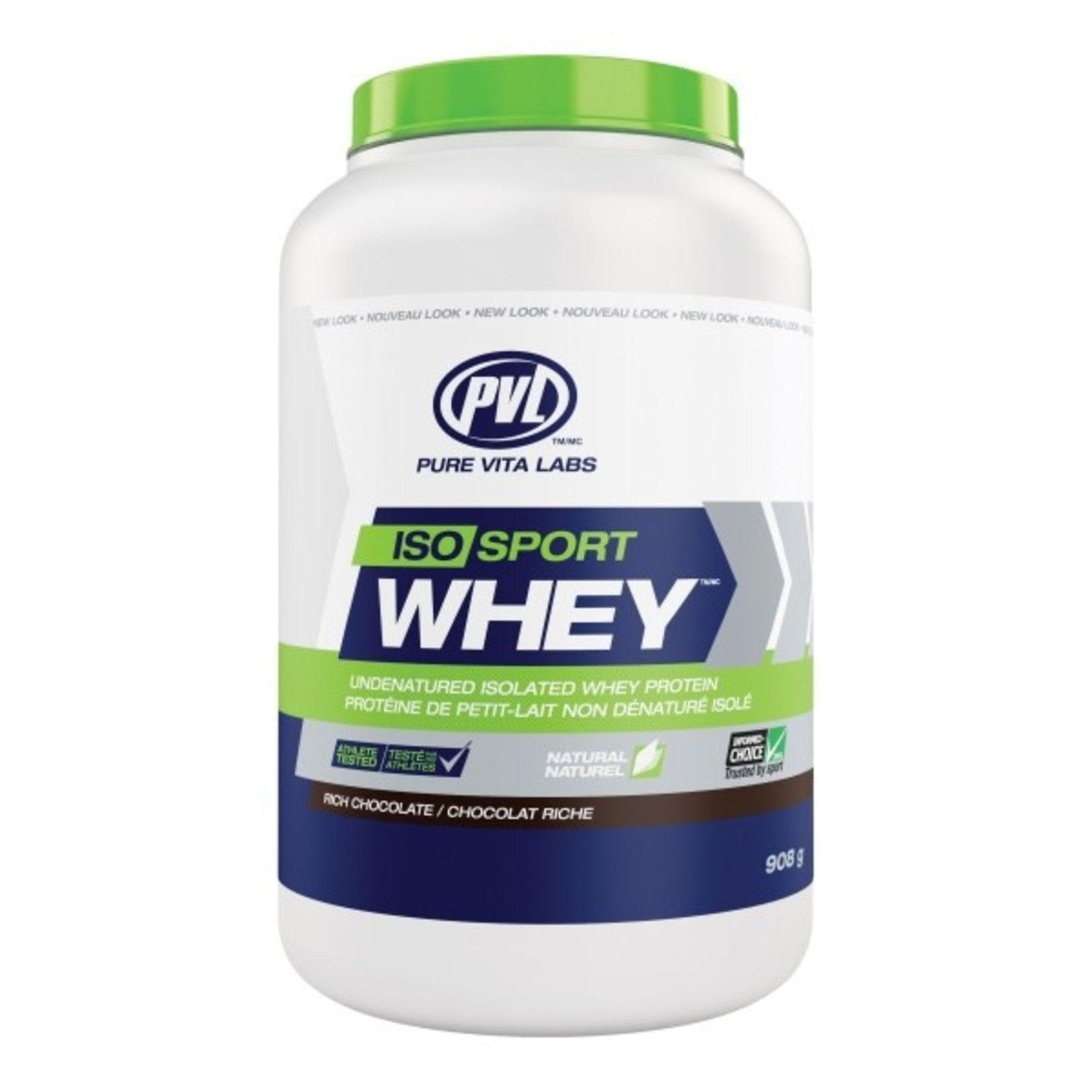 PVL Iso Sport Whey Protein Rich Chocolate 908g