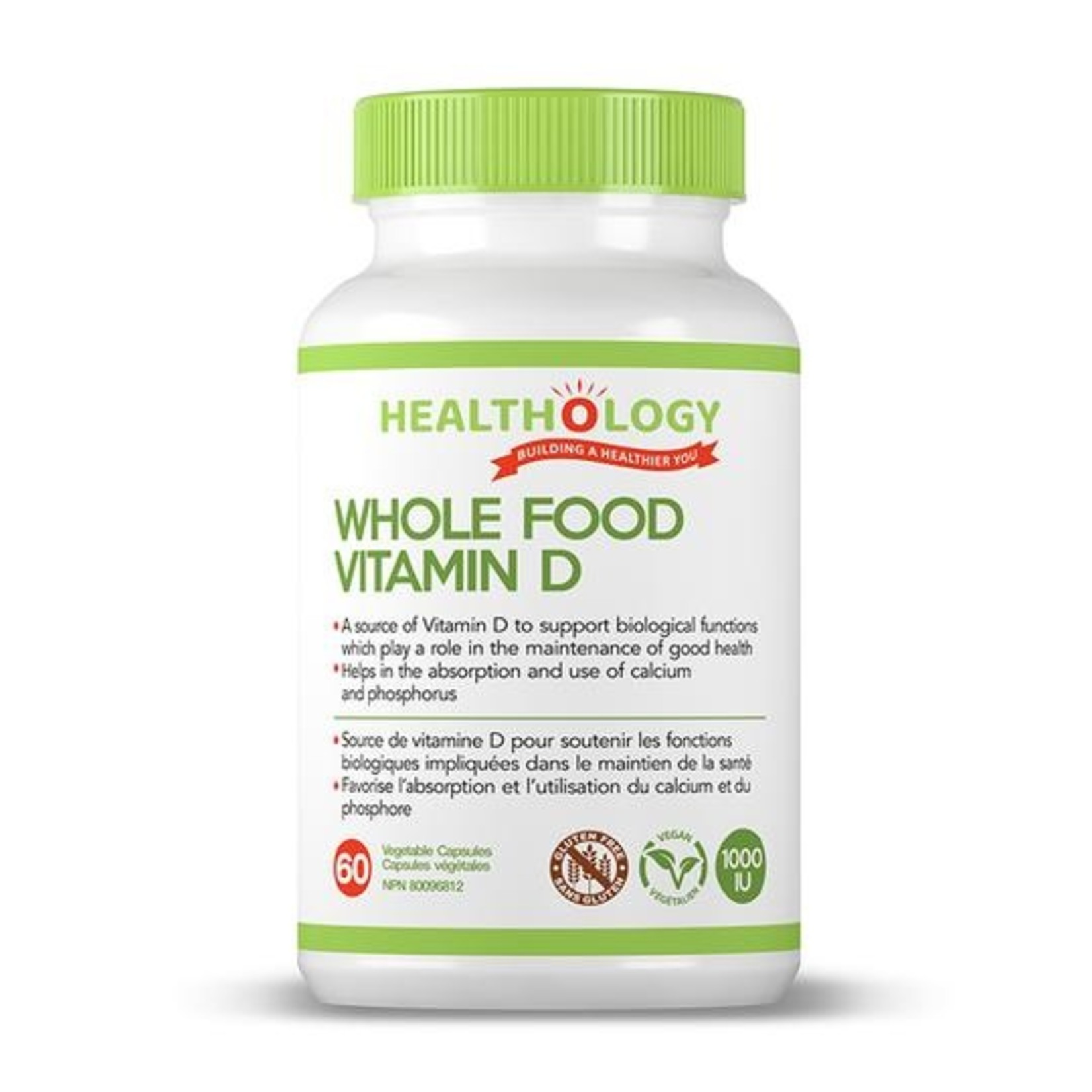 Healthology Healthology Whole Food Vitamin D 60 caps