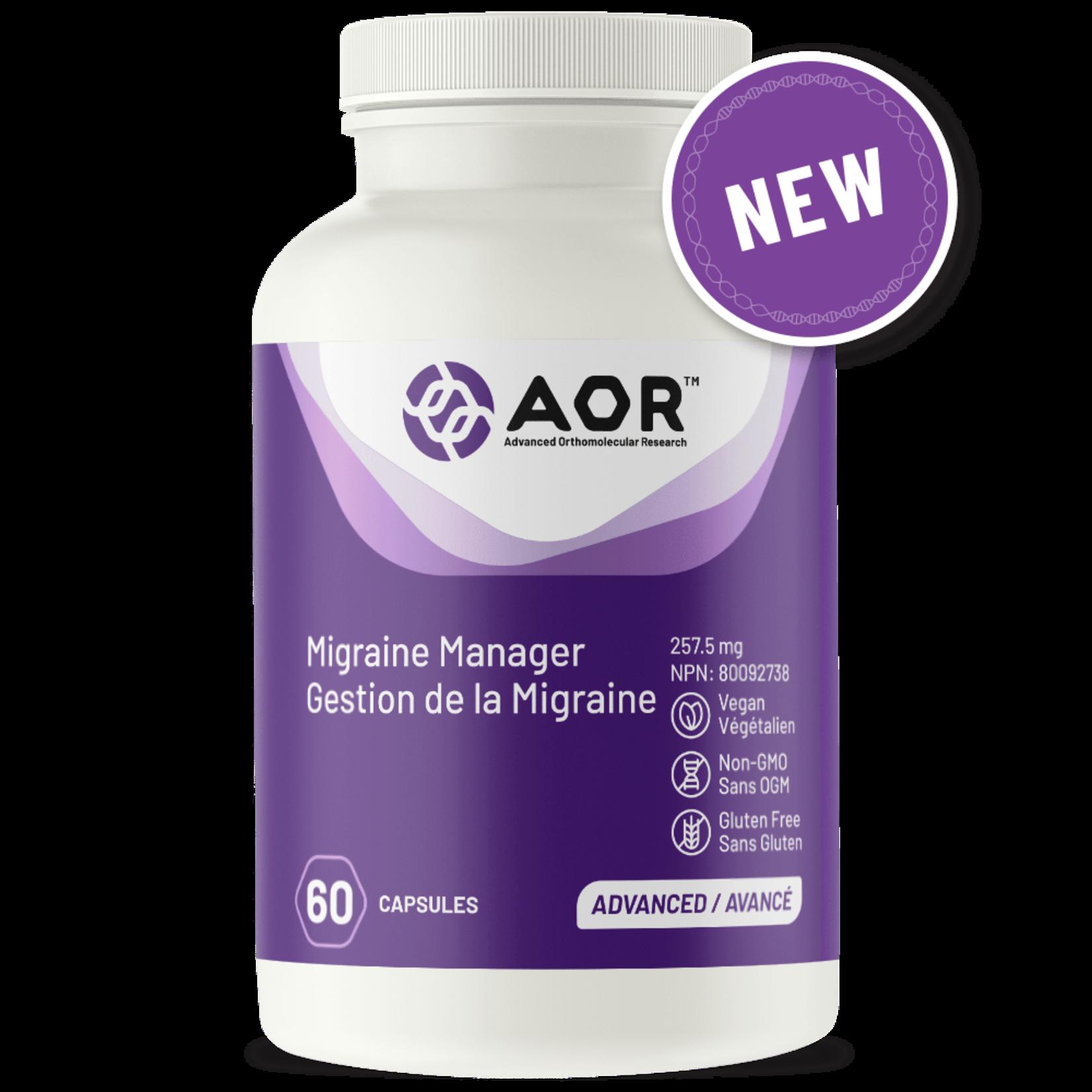 AOR Migraine Manager 60 caps