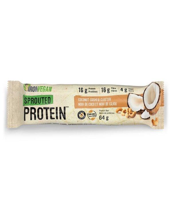 Iron Vegan Protein Bar Coconut Cashew Cluster
