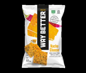 Nacho Cheese Whole Grain Tortilla Chips 156g