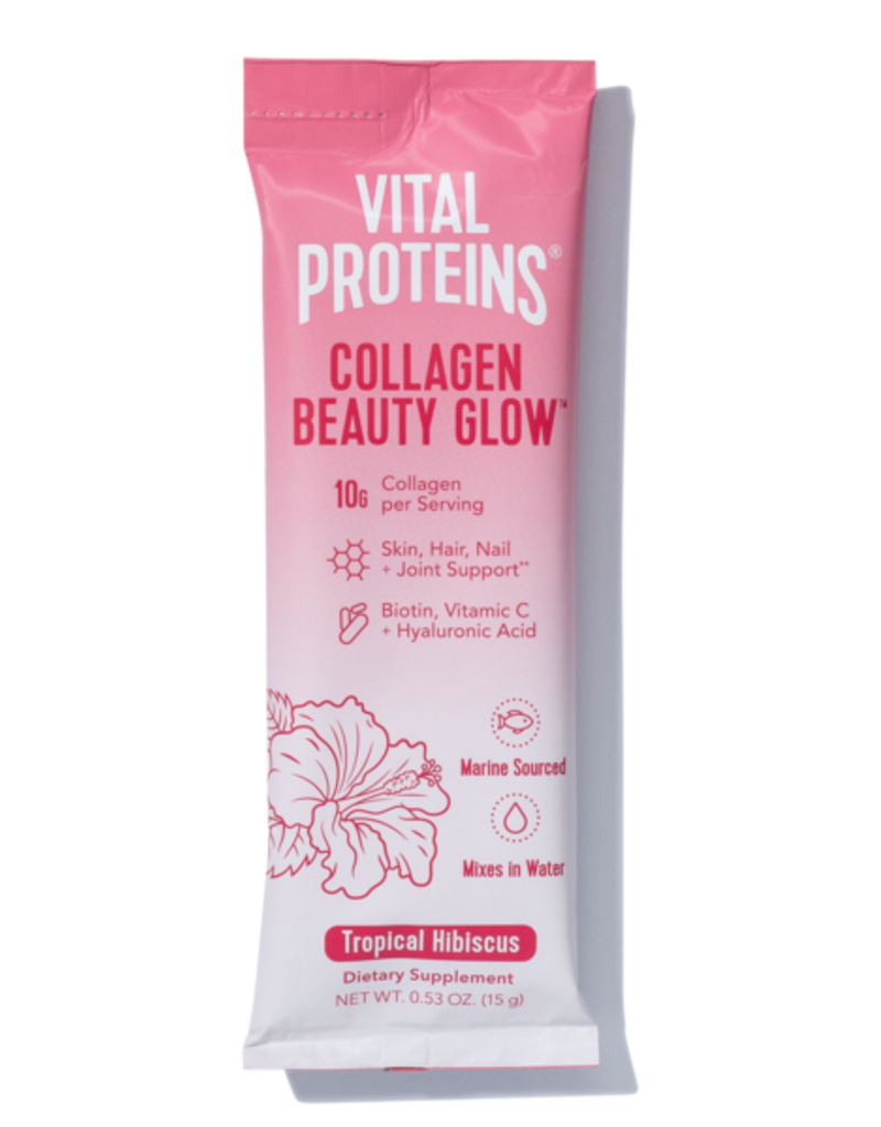 Vital Proteins Collagen Beauty Glow Tropical Hibiscus - Box 14 Stick Packs