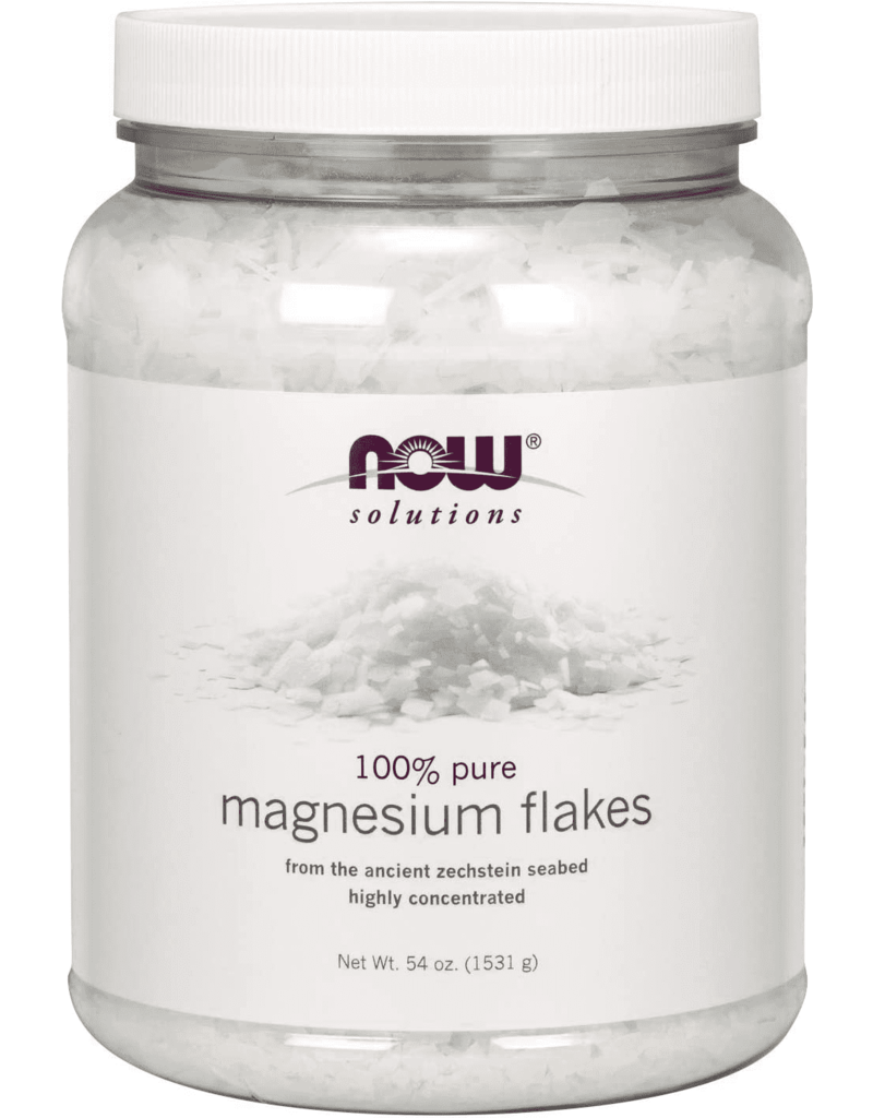 NOW 100% pure Magnesium Flakes 1531g