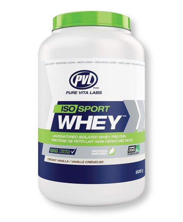 PVL Iso Sport Whey Protein Creamy Vanilla 908g