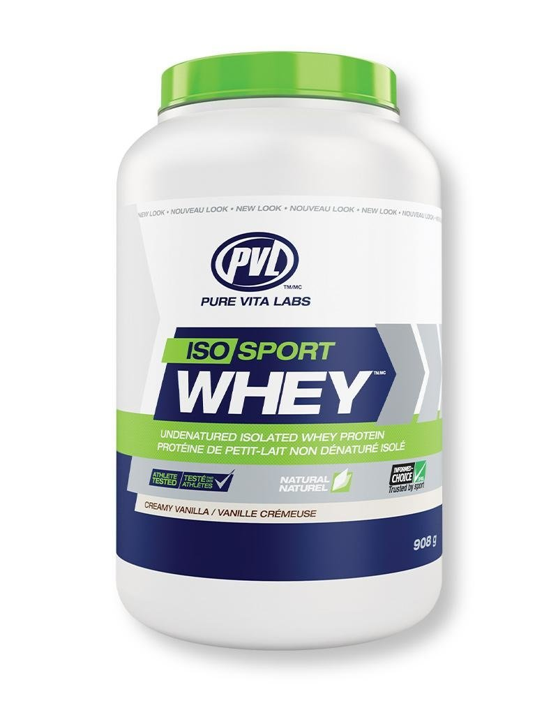 Pure Vita Labs Iso Sport Whey Protein Creamy Vanilla 908g