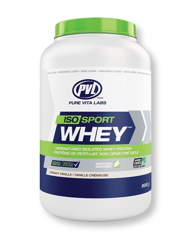 Pure Vita Labs PVL Iso Sport Whey Protein Creamy Vanilla 908g
