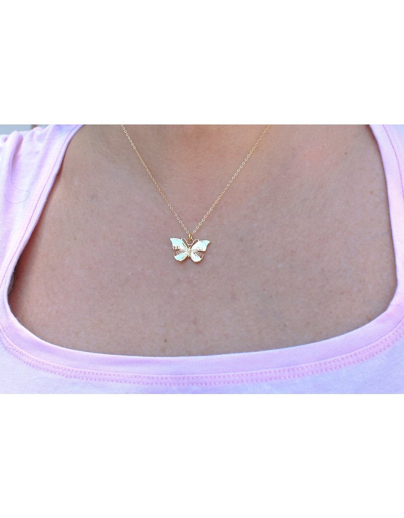 Shine and Luster Shine and Luster Farfallina Butterfly Necklace