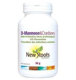 New Roots D Mannose and Cranberry with Probiotics 50g