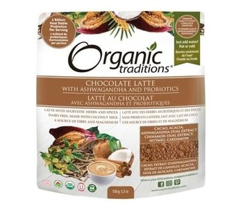 Organic Traditions Chocolate Latte with Ashwagandha and Probiotics 150g