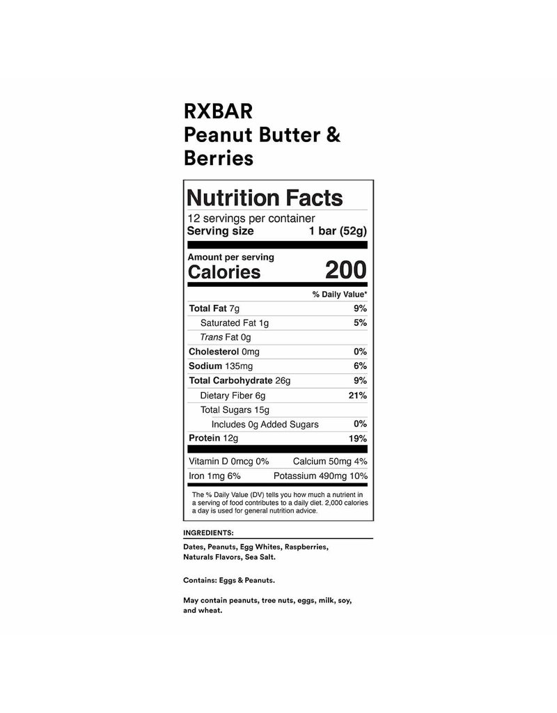 Rx Bar Protein Bar Peanut Butter & Berries single