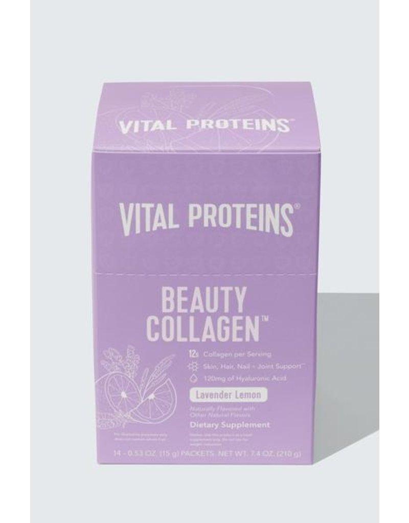 Vital Proteins Collagen Beauty Glow Lavender Lemon - Box 14 Stick Packs