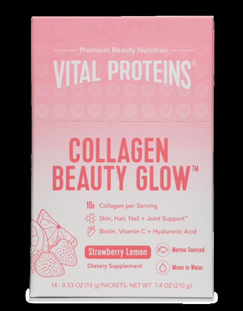 Vital Proteins Collagen Beauty Glow Strawberry Lemon - Box 14 Stick Packs